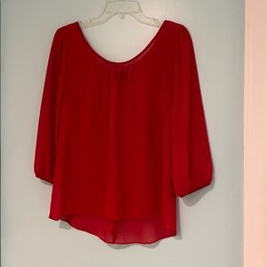 Bright Red Bow Back Shirt
